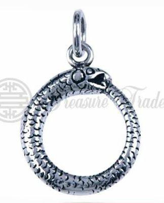 Ouroboros hanger van Sterling zilver