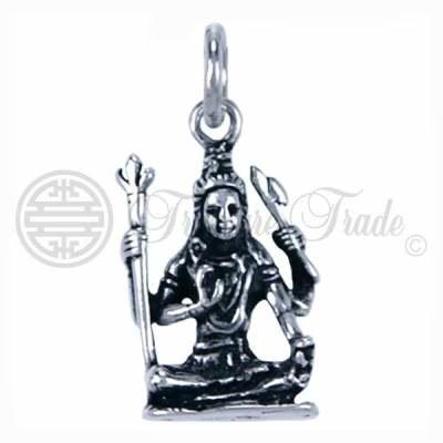 Sterling zilveren hanger in de vorm van de God Shiva