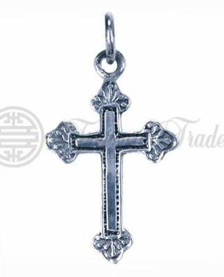 Decoratieve sterling zilveren hanger in de vorm van een kruis