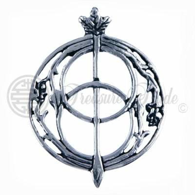 Decoratieve open sterling zilveren hanger met het Vesica Pisces symbool dat bekend is van de deksel van de geneeskrachtige Chalice Well bron