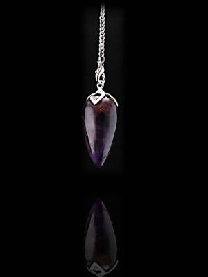 Elegante pendel Lotus in druppelvorm van Amethist