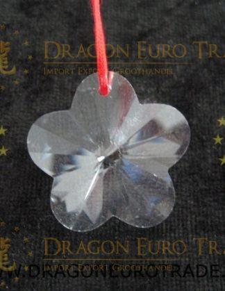 Hanger van facetgeslepen Regenboogkristal in de vorm van een bloem