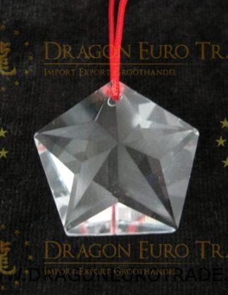 Hanger van facetgeslepen Regenboogkristal in de vorm van een ster