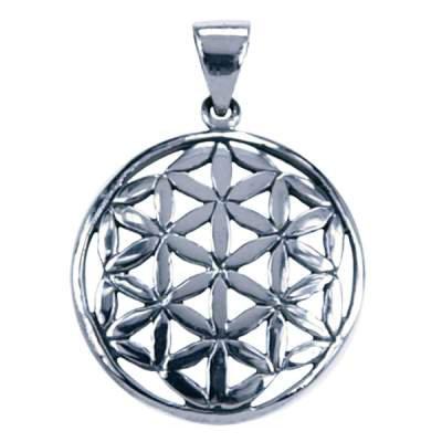 Sterling zilveren hanger van de Flower of Life