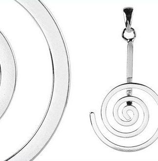 Spiraal-hanger ontworpen om Edelsteen Donuts van 4 en 5 centimeter aan te bevestigen.