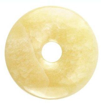 Edelsteen donut van oranje Calciet