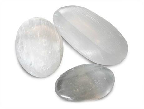 Hand/massage-stenen van Seleniet