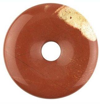 Edelsteen donut van rode Jaspis
