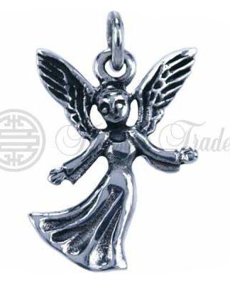 Mooi lief gedetailleerde sterling zilveren hangertje van een beschermengel