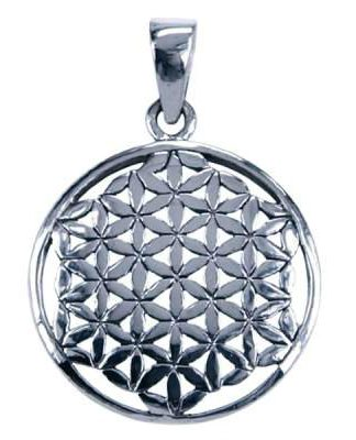 Sterling zilveren hanger met Flower of Life symbool