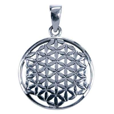 Sterling zilveren hanger met Flower of Life symbool