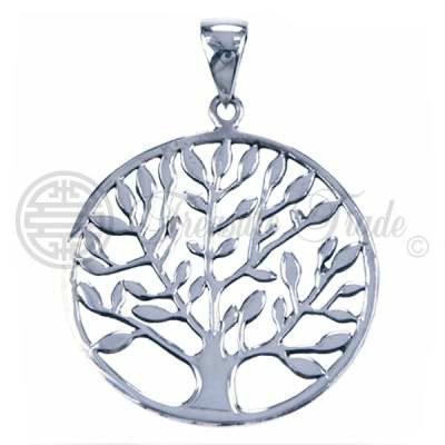 Sterling zilveren hanger in de vorm van de levensboom