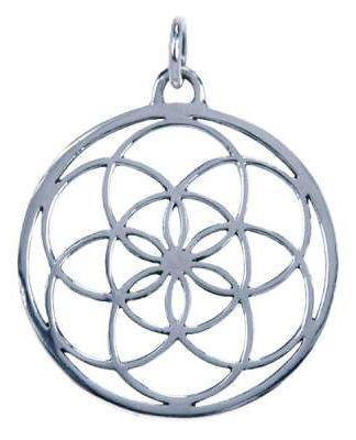 Sterling zilveren hanger in de vorm van levenszaad, wordt gedragen door vrouwen voor vruchtbaarheid, bescherming en zegening